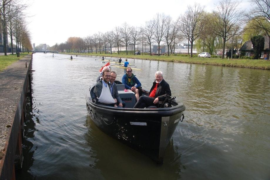 Eerste liter Blauwe Diesel voor Utrechtse boten getankt
