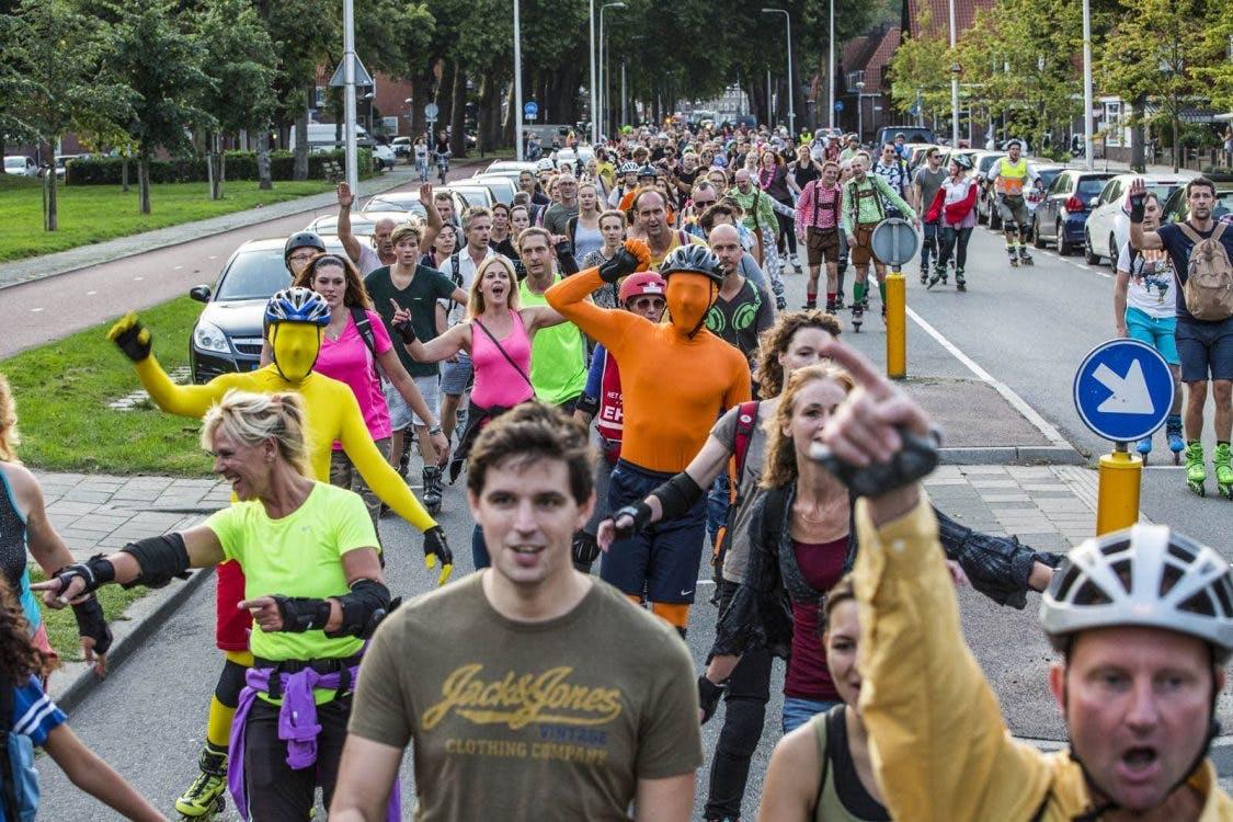 De Skate Parade in Utrecht gaat weer van start