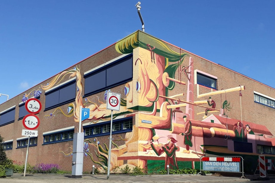 Muurschildering op tbs-kliniek in Utrecht: 'Een plek van transitie'