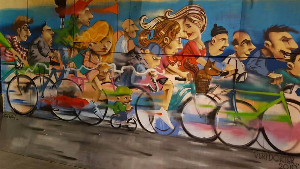 Street art event in The Wall