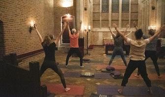 Yoga in de Domtoren tijdens International Yoga Day