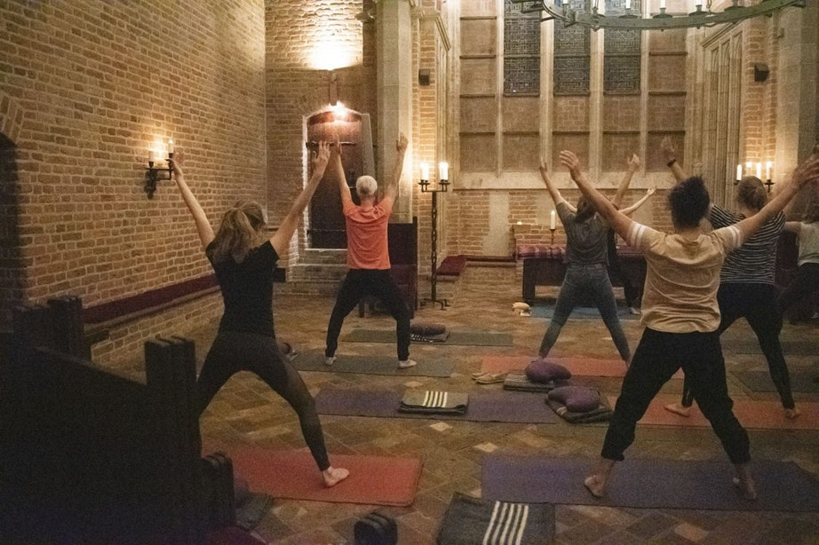 Yoga in de Domtoren tijdens International Yoga Day