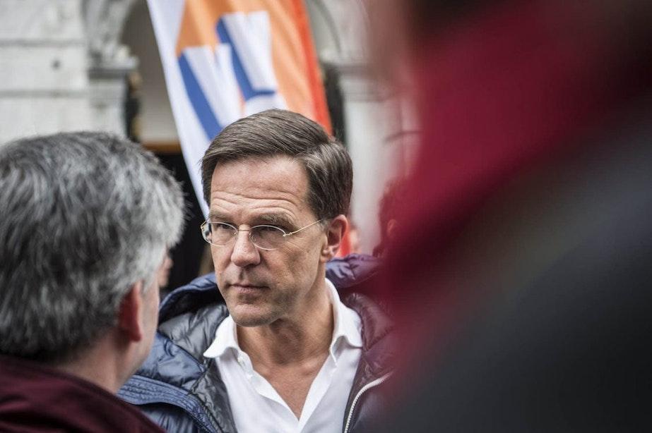 Minister-president Rutte op werkbezoek bij Bartholomeus Gasthuis in Utrecht