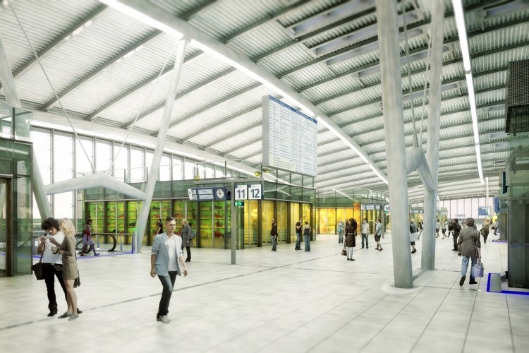 Plaatsen groot vertrektijdenbord Utrecht Centraal loopt vertraging op