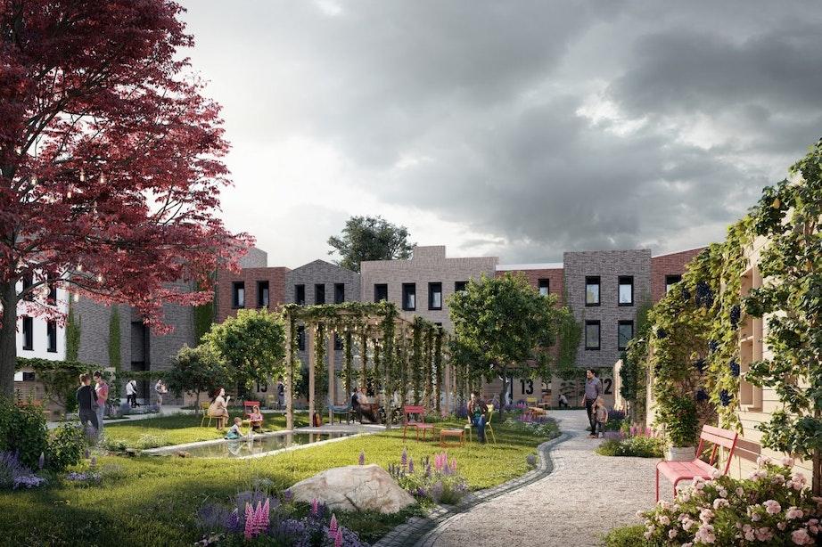 Nieuwe wijk Leeuwesteyn langs Amsterdam-Rijnkanaal krijgt steeds meer vorm