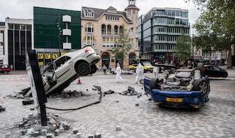 Bizar incident nagebootst op Vredenburgplein in Utrecht