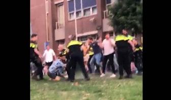 Onrustig in park Paardenveld: Meerdere arrestaties en politie gebruikt wapenstok