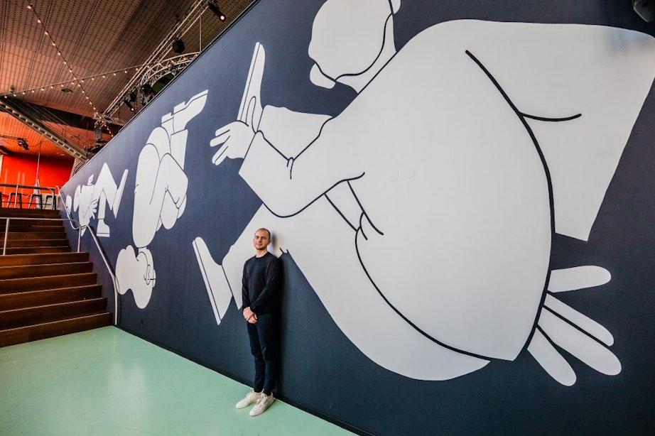 Kunstwerk van 150m2 verrijkt TivoliVredenburg
