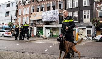 21 arrestaties bij ontruiming kraakpanden Burgemeester Reigerstraat
