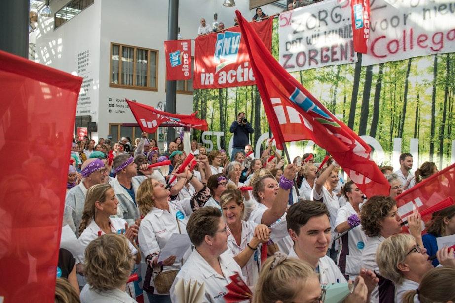 Medewerkers St. Antonius in Utrecht in actie voor betere cao