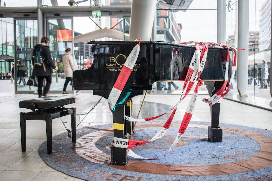 Populaire stationspiano op Utrecht Centraal gesloopt door vandalen