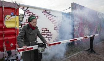 De Muur op het Berlijnplein in Utrecht is gevallen