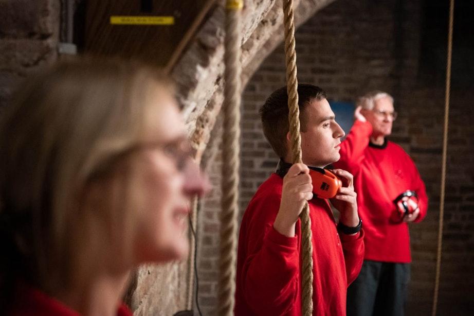 Het luiden van de klokken in de Utrechtse binnenstad: 'Je moet het voelen'