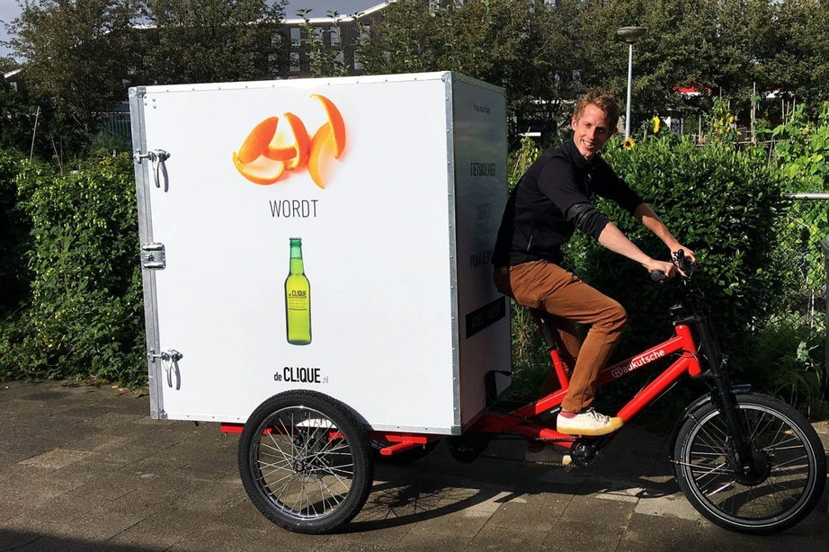 De Clique ziet waarde in afval Utrechtse horeca en opent zeecontainers Europalaan