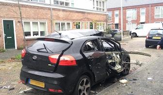 Auto opgeblazen in de Vlierboomstraat in Ondiep