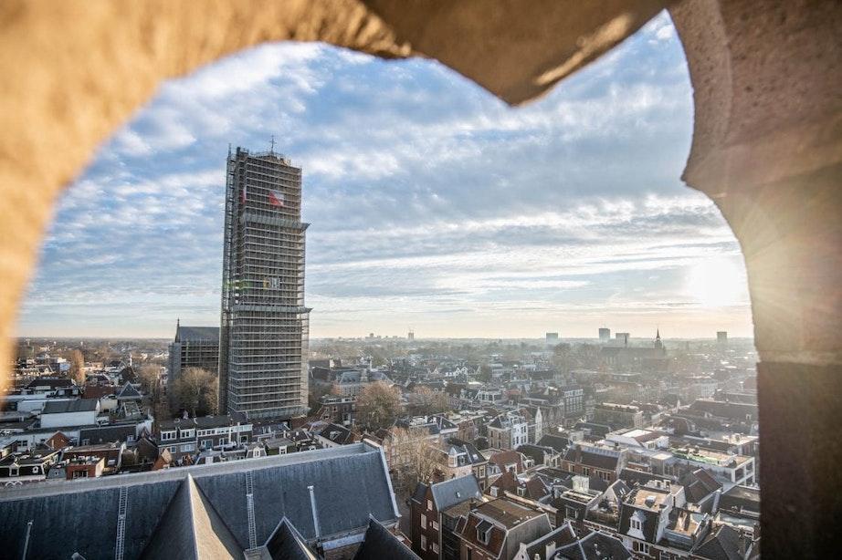 Sinterklaasliedjes vanaf grote hoogte in Utrecht