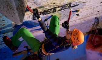 Nederlands Kampioenschap ijsklimmen op het Utrecht Science Park