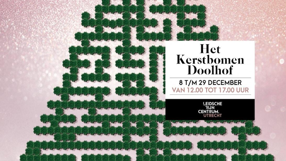 750 echte kerstbomen; doolhof in Leidsche Rijn Centrum