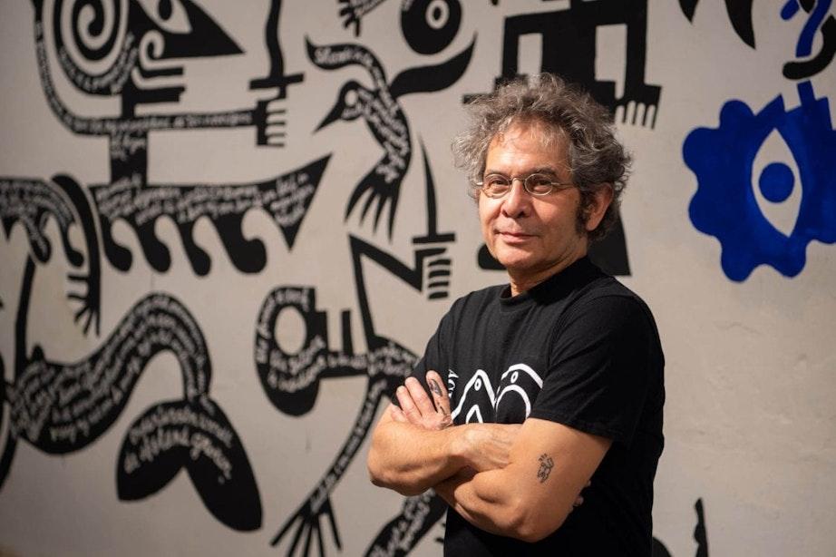 Max Kisman maakt bijzondere tijdelijke muurschildering: 'Het is niet het einde'