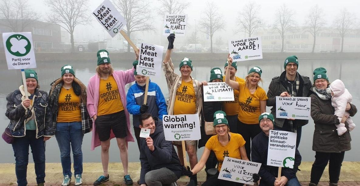 Utrechtse Partij voor de Dieren duikt water in voor klimaat: 'De tijd dringt'