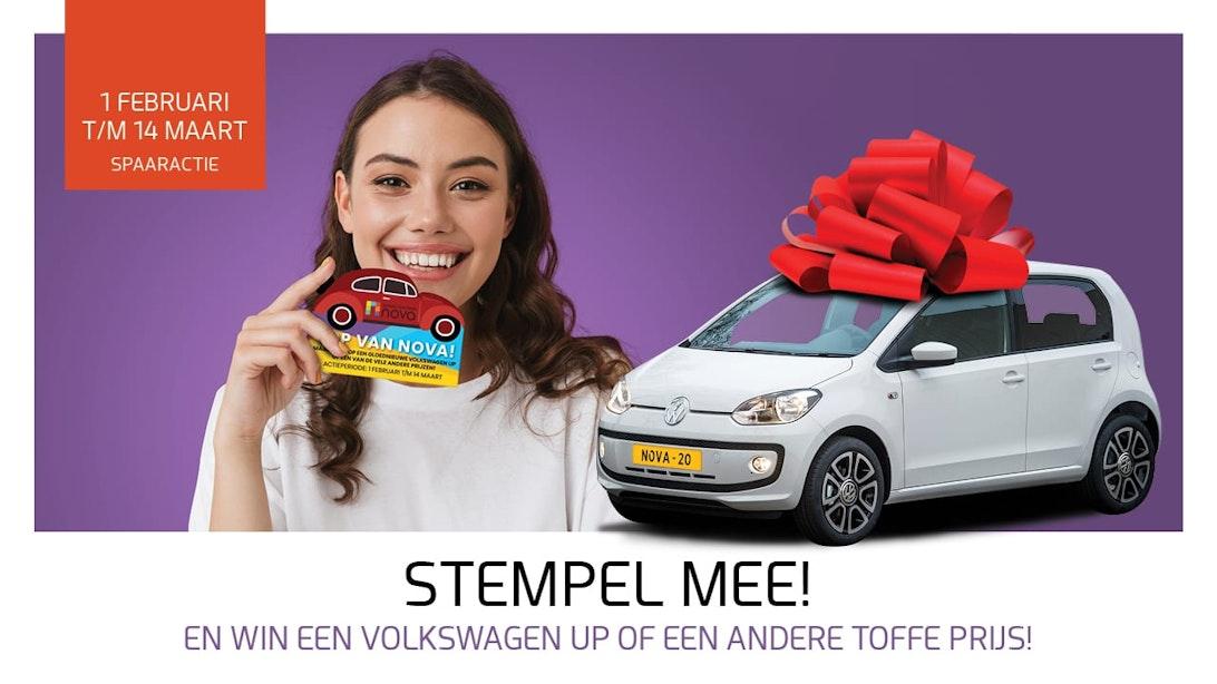 Spaaractie van Winkelcentrum NOVA: Maak kans op een Volkswagen Up!