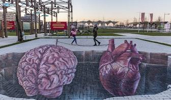 Bijzondere 3D-vloerschildering van bekende straatkunstenaar Leon Keer bij Berlijnplein