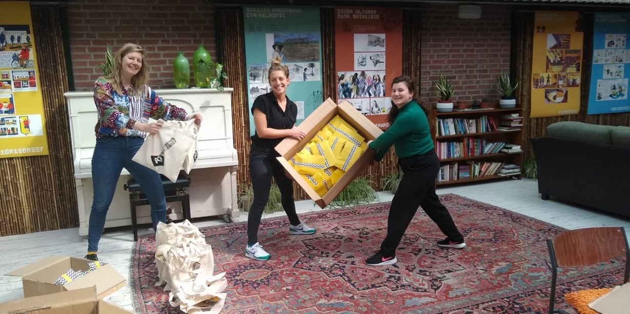 Tas vol met sport en cultuur om thuis te gebruiken voor Utrechtse kinderen