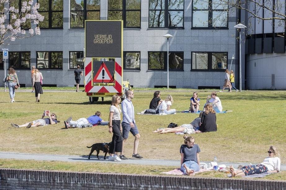 Weer moest politie optreden in te drukke Utrechtse parken