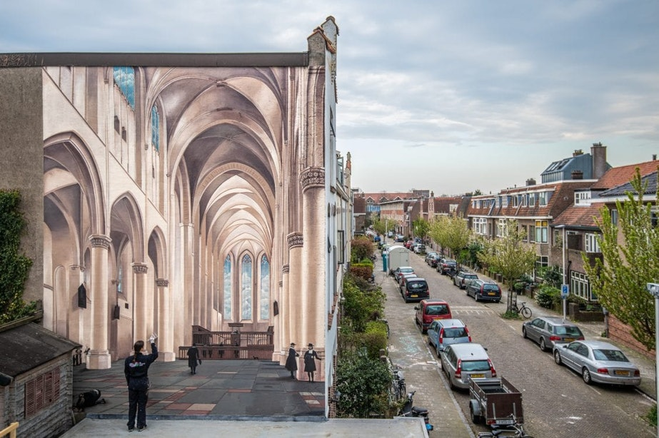 Nieuw meesterwerk van De Strakke Hand op Utrechtse muur