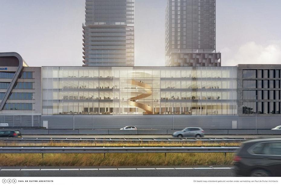 Bouw nieuw kantoorgebouw van 10.000m2 langs de A2 met bijzondere trap gestart
