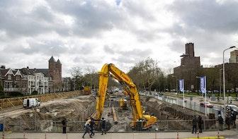 Ondanks corona gaat werk aan Utrechtse singel gewoon door