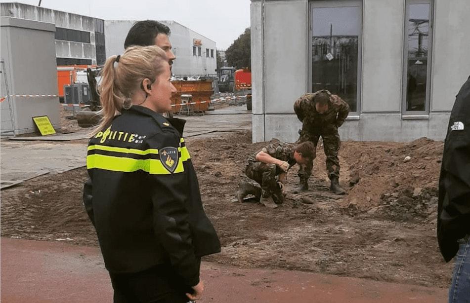 Explosieven Opruimingsdienst in actie na vondst mortiergranaat op Lage Weide
