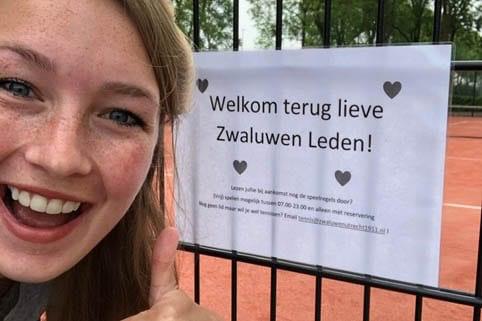 Veel aanmeldingen voor Utrechtse tennisvereniging: 'ultieme social distancing sport'