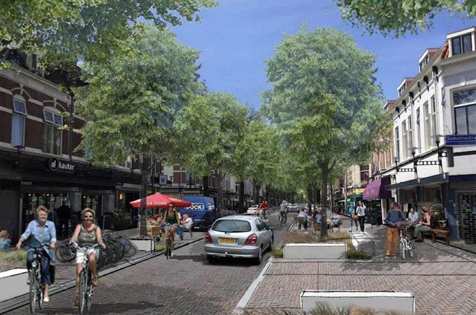 Dit is het nieuwe ontwerp van de Kanaalstraat en Damstraat in Utrecht: 'rust in het straatbeeld'