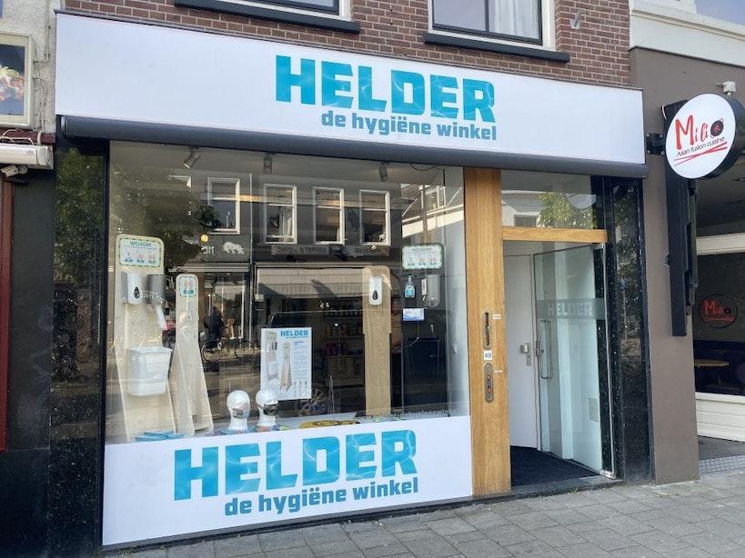 Hygiënewinkel voor coronamaatschappij geopend aan de Biltstraat in Utrecht