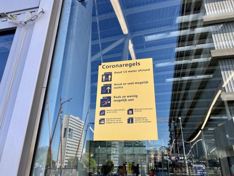 Utrecht Centraal wordt klaargemaakt voor de anderhalvemetersamenleving