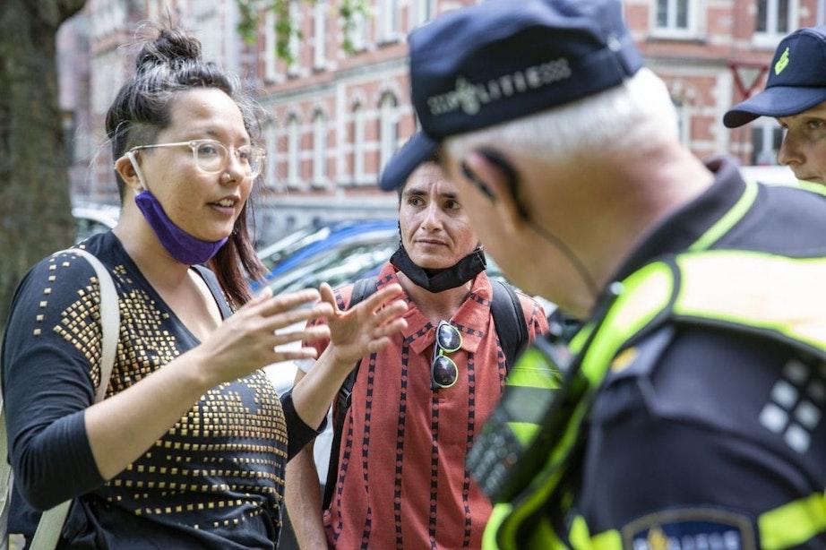 Gedoe over spandoeken bij Utrecht Pride Demo