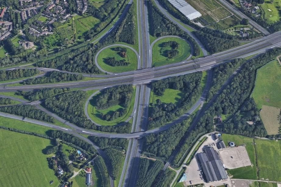 Delen van de A12 en A27 bij Utrecht dit weekend afgesloten