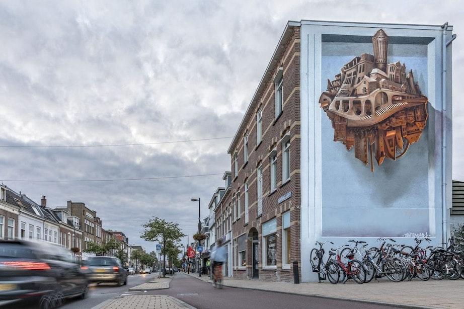 Nieuwe muurschildering JanIsDeMan aan Amsterdamsestraatweg trekt veel bekijks