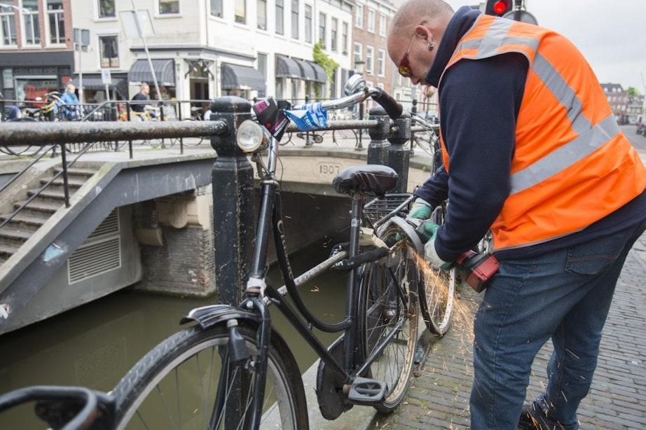 Ruim 20 procent van gevaarlijk geparkeerde fietsen in Utrecht zijn Swapfietsen en OV-fietsen