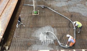 Wederom grote hoeveelheden beton gestort tijdens bouw Central Park in Utrecht