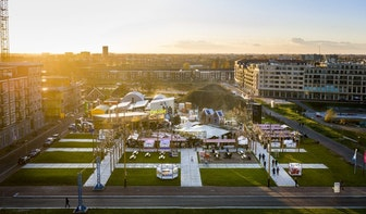 Dit jaar zes weken lang Stadscamping Raum op Berlijnplein in Utrecht