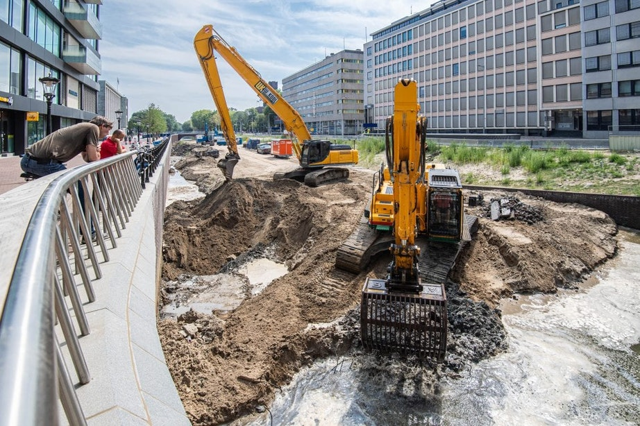 Graven, graven en graven: de Utrechtse singel maakt meters