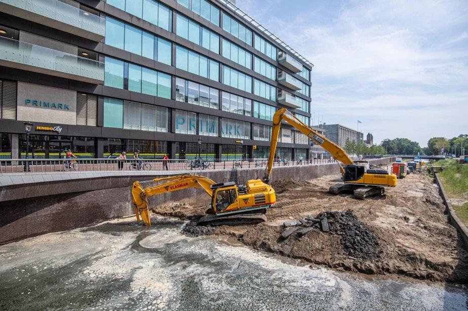 Zand van de Utrechtse singel wordt gebruikt bij nieuwbouw in Leidsche Rijn