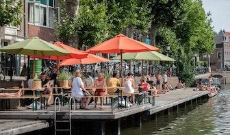 Foto's: Steeds meer geïmproviseerde terrassen in de Utrechtse binnenstad