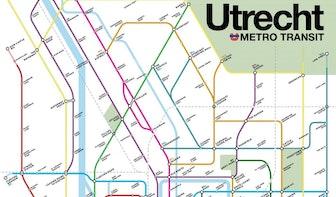 Dumb Square, High Catherine en Bear Pit: Victor maakt fictieve Utrechtse metrokaart in het Engels