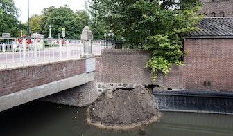 Achterstallig onderhoud bij verzakte kade Minstroom; gemeente Utrecht wist niet dat ze eigenaar is