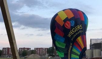 Luchtballon maakt landing op bouwterrein Merwedekanaalzone