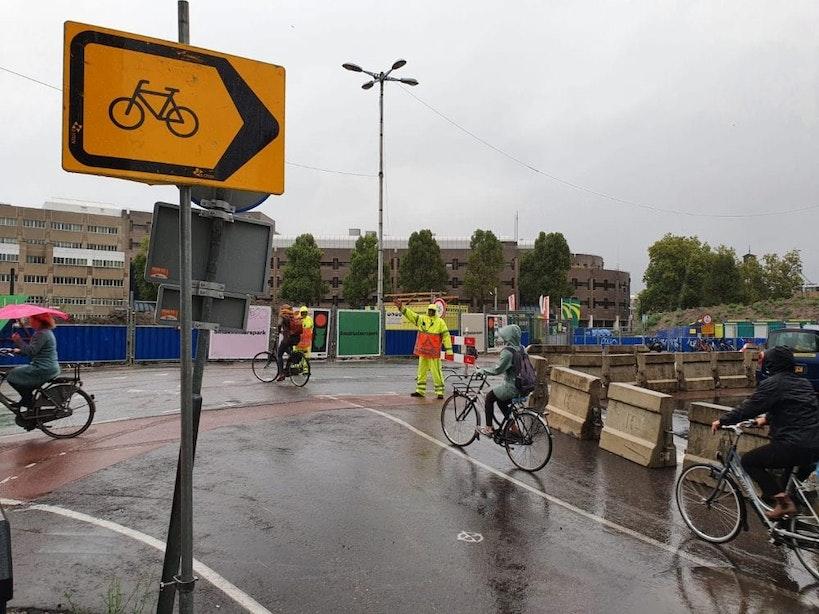 Afsluiting Vredenburgknoop en Catharijnesingel begonnen; even zoeken naar de juiste route
