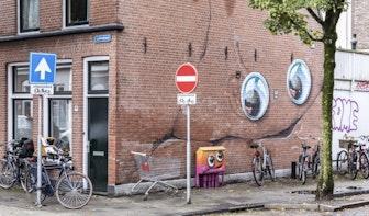 Nieuw tijdelijk werk van JanIsDeMan aan Esdoornstraat in Utrecht